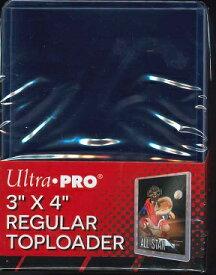 "#81222 ULTRA PRO 3""x4"" REGULAR TOP LOADER (トップローダーライト)"