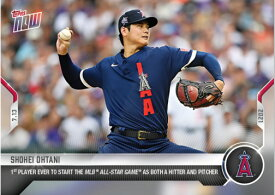2021 TOPPS NOW #508 大谷翔平 1st PLAYER EVER TO START THE MLB ALL-STAR GAME AS BOTH A HITTER AND PICHER