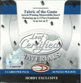 NFL 2008 LEAF CERTIFIED MATERIALS BOX
