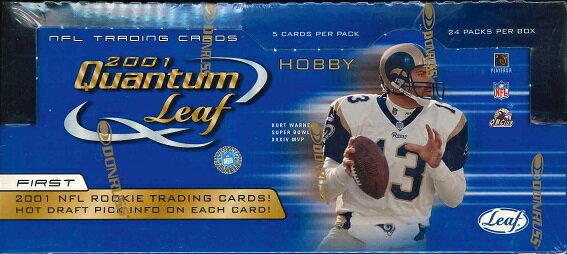 NFL 2001 LEAF QUANTUM LEAF FOOTBALL HOBBY BOX
