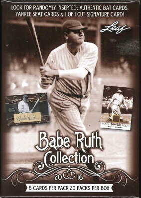 2016 LEAF BABE RUTH COLLECTION BOX
