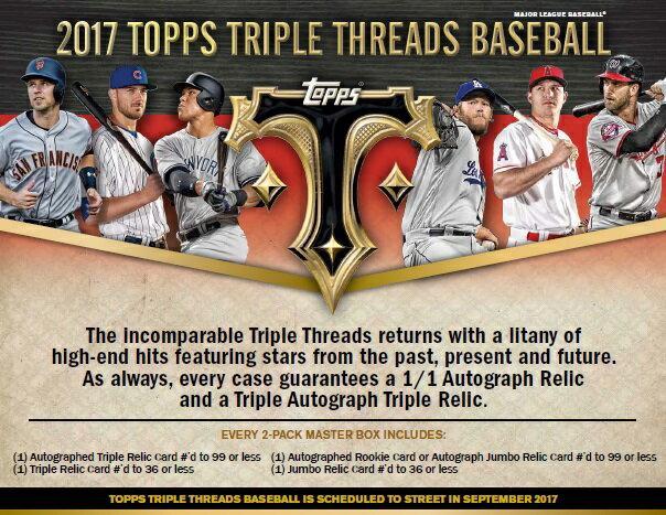MLB 2017 TOPPS TRIPLE THREADS BASEBALL BOX 送料無料