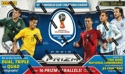 2018 PANINI PRIZM FIFA WORLD CUP SOCCER BOX