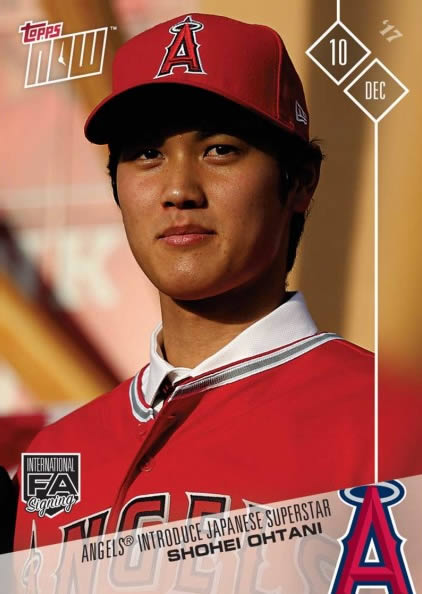 2017 TOPPS NOW OS-80 大谷翔平 ANGELS INTRODUCE JAPANESE SUPERSTAR