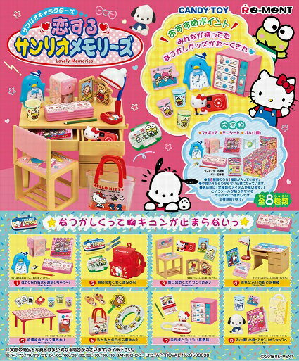 リーメント サンリオ 恋するサンリオメモリーズ(食玩)[8個入り]BOX 2018年4月16日発売