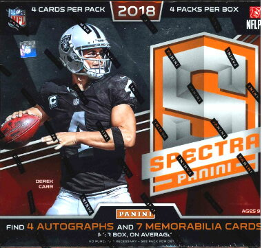 NFL 2018 PANINI SPECTRA FOOTBALL BOX