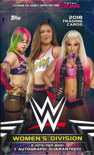 2018 TOPPS WWE WOMEN'S DIVISION WRESTHLING HOBBY BOX(送料無料)