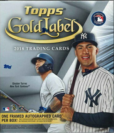 MLB 2018 TOPPS GOLD LABEL BASEBALL BOX(送料無料)