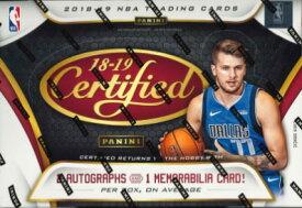 NBA 2018/19 PANINI CERTIFIED BASKETBALL BOX