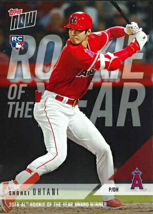 2018 TOPPS NOW #AW-1 大谷翔平 2018 AL ROOKIE OF THE YEAR AWARD WINNER