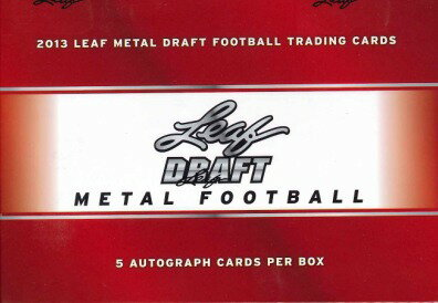 ■セール■2013 LEAF METAL DRAFT FOOTBALL BOX