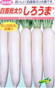 松永種苗 しろうま 20ml (だいこん・ダイコン) 【郵送対応】