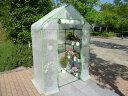 組立式簡易温室 セミグリーンジャンボ (サイズ 奥行73cm×幅140cm×高さ195cm)【送料無料】