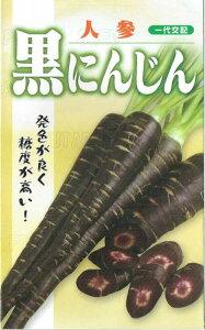 フタバ種苗 黒にんじん コート種子約300粒【郵送対応】