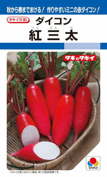 タキイ種苗 ミニ赤ダイコン 紅三太 8ml【郵送対応】