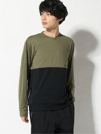NUMERALS/(M)NMRキリカエプリントLST NUMERALS ニコアンド カットソー Tシャツ カーキ ブルー ベージュ パープル【送料無料】[Rakuten Fashion]