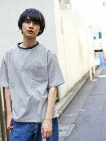 [Rakuten BRAND AVENUE](M)M/NポリサッカーSTTシャツ niko and... ニコアンド カットソー【RBA_S】