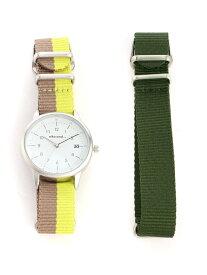 (W)チェンジベルトウォッチN niko and... ニコアンド ファッショングッズ 腕時計 イエロー ネイビー ブラック[Rakuten Fashion]