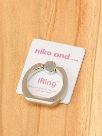 [Rakuten Fashion]OR ニコロゴIRING niko and... ニコアンド ファッショングッズ 携帯ケース/アクセサリー グレー カーキ ピンク ホワイト