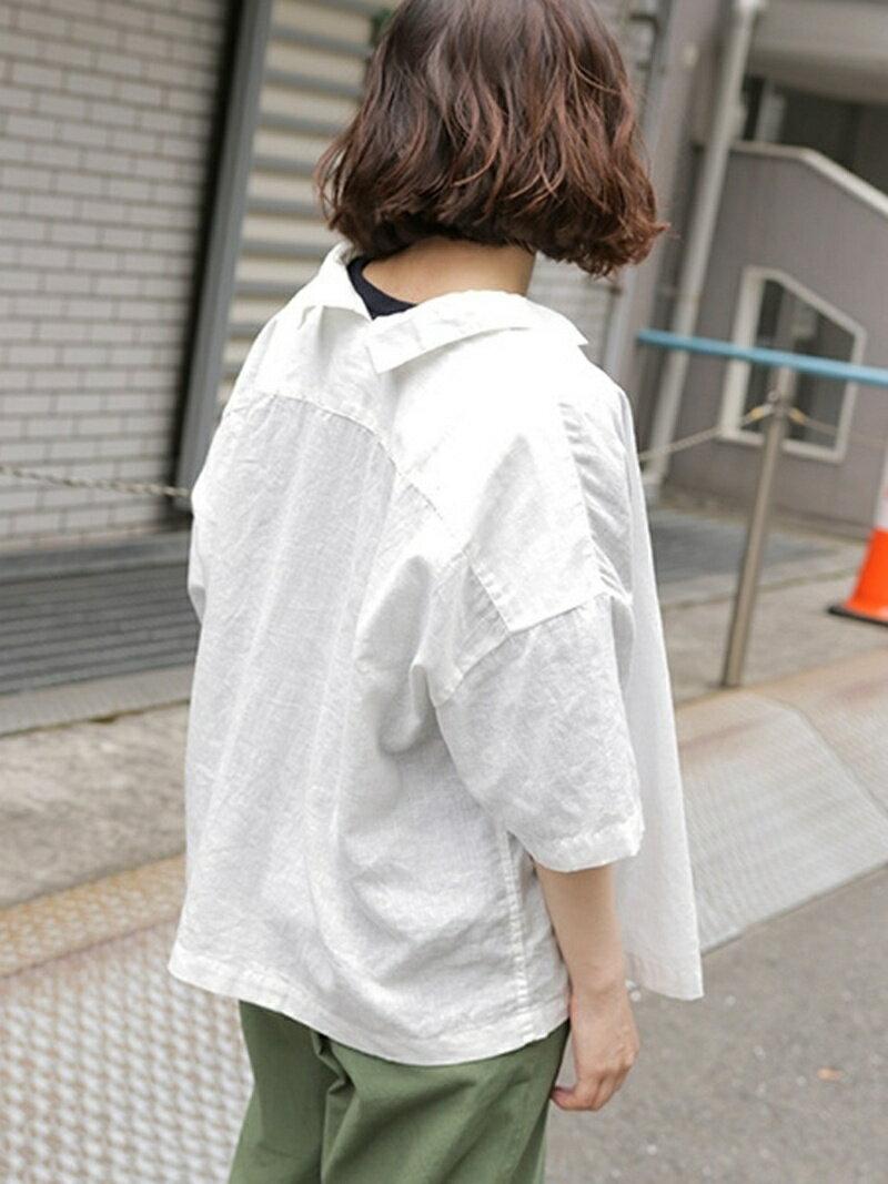 [Rakuten BRAND AVENUE]【SALE/40%OFF】(W)CアサキザミエリS/Sシャツ niko and... ニコアンド シャツ/ブラウス【RBA_S】【RBA_E】