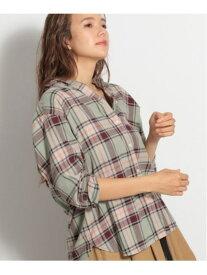 [Rakuten Fashion](W)40ビエラBASICSH niko and... ニコアンド シャツ/ブラウス 長袖シャツ グリーン グレー ネイビー パープル ブラウン