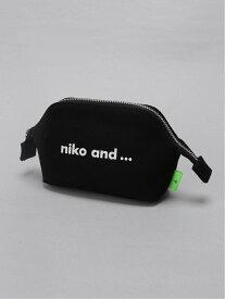[Rakuten Fashion]OR Nニコロゴポーチ niko and... ニコアンド バッグ ポーチ ブラック ブルー ホワイト