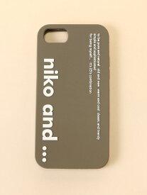 [Rakuten Fashion]ORニコロゴIPケース 78 niko and... ニコアンド ファッショングッズ 携帯ケース/アクセサリー グレー ブラック ホワイト
