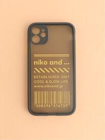 OR NKBCIPケース11 iPhone11 niko and... ニコアンド ファッショングッズ 携帯ケース/アクセサリー グレー ブラック ホワイト[Rakuten Fashion]