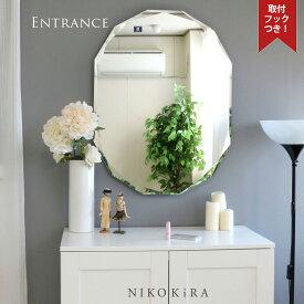 鏡 ミラー 壁掛け おしゃれ ウォール 姿見 全身 オシャレ 玄関 北欧 リビング 洗面 トイレ 寝室 インテリア ノンフレーム 美しい 上品 綺麗 かわいい 優雅 豪華 エレガント 上品 上質 高級 セレブ SUC-011