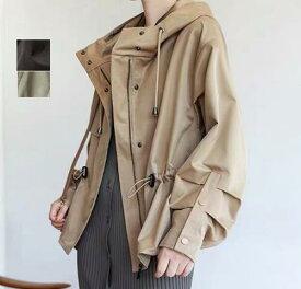 春秋用 レディース コート ショート丈 トップス 洗える 細身 大きいサイズ ジャケット アウター スプリングコート テロンチ  体型カバー ダッフルコート モッズコート