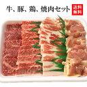 【送料無料】【☆4.73(10月19日現在)】定番焼肉セット!3人分〜4人分。カルビ、モモ、豚バラ、鶏モモ肉のセット。牛…