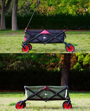 キャリーワゴンキャリーカート折りたたみ大型タイヤレイチェルアウトドアRR-GC01RaychellOutdoorグランドキャリアワゴンブラックカーキーアースカラーコーデ
