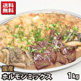 【3000円 ポッキリ】国産牛 ホルモンミックス タレ漬け 約1kg (約500g×2) 牛肉
