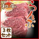 【ギフトに最適】ランプステーキ肉 和牛【約100g×3枚】