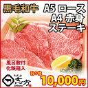 【お中元・御中元 ギフト】黒毛和牛 A5 ロース(2枚)・A4 赤身(3枚)ステーキ 計5枚