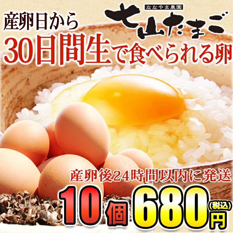 佐賀県産七山村の新鮮卵10個 七山たまご 濃厚卵黄 お取り寄せ・贈り物・ギフト・お中元・お歳暮・プレゼントへ
