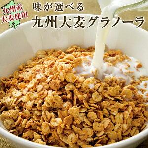 九州大麦グラノーラ2袋セット 送料無料 3種類から味が選べる 国産原料100%使用 グラノーラのみなので糖質も大幅オフ!