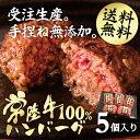 ハンバーグ お中元 ギフト 常陸牛100% 手作り 和牛 5個セット 無添加 あす楽 送料無料 冷凍 牛肉