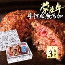 お歳暮 内祝い 出産 お礼 ギフト ハンバーグ 常陸牛 100g×3個 手造りタレ付き 無添加 手捏ね 牛肉 ギフト 和牛