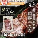 【4個ご購入で送料無料!8個以上ご購入で1個サービス!】杜の都仙台名物 肉厚牛たん 120gパック 焼き方レシピ付き[お…