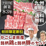 【初回限定送料無料】九州産鹿児島県産[豚肉はいからポーク肩ロースと豚バラ]+[銘柄鶏地鶏鶏肉赤鶏さつま]豚鶏3種セット