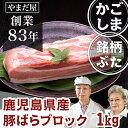 九州 鹿児島県産 銘柄豚 ブランド豚 豚バラ かたまり 1kgぶた肉 豚肉 国産豚 はいからポーク チャーシュー 角煮用 ブ…
