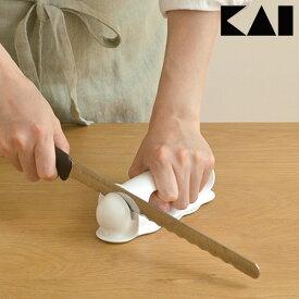 【LINEクーポン配布中】波刃のパン切り包丁 普通の包丁 どっちも研げる 包丁研ぎ 波刃が研げるシャープナー A63 パン切りナイフ ウェーブカット シャープナー 貝印 kai 日本製