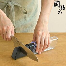 関孫六 ダイヤモンド&セラミックシャープナー AP-0308 3つの工程で切れ味が蘇る 両刃用 貝印 kai 日本製