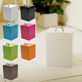 【全品クーポン】小さめサイズがうれしいトイレポット サニタリーボックス(アイセン カスケット 白 コンパクト 省スペース 掃除 シンプル おしゃれ かわいい ゴミ箱)p01