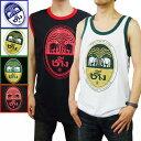 タンクトップ ノースリーブ メンズ BeerChang ビアチャン (4カラー) インナー プリント ロゴ おしゃれ 大きいサイズ エスニック アジアン ファッション 夏 夏物 かわいい かっこいい