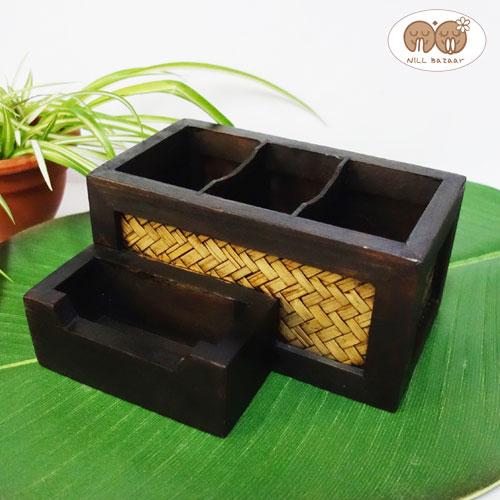 リモコンラック リモコンスタンド (多機能スタンドケース Bタイプ)おしゃれ 木製 リモコン 収納 リモコンケース リモコンホルダー バンブー ウッド アジアン [ 新生活 リモコンラック リモコンスタンド 収納 おしゃれ 木製 アジアン]