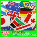 [今なら!!P15倍] 送料無料 1000円 ポッキリ 6枚セット 刺繍 ワッペン アイロン アップリケ 世界の国旗 国旗 選べる6枚…