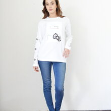 ハローキティロングスリーブTシャツ  ninamew ニーナミュウ レディース ファッション ニーナ ミュウ キティ Hello Kitty コラボ サンリオ 可愛い 【プレゼント 梱包 無料】【即納可能】【あす楽 対応_関西地方迄】