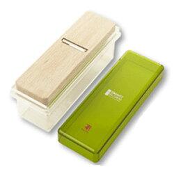 スマート削り器(竹・グリーン)【樹脂素材・削り器のケースが洗える♪】